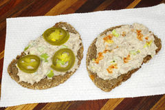 Open Face Tuna Salad Sandwich Stock Image