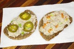 Open Face Tuna Salad Sandwich Stock Image