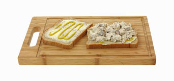Open Faced Chicken Sandwich Royalty Free Stock Image