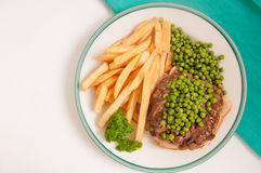 Open faced hot beef sandwich Stock Images