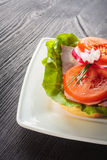 Open faced sandwich Royalty Free Stock Images