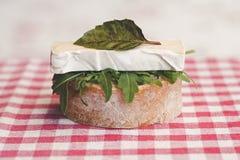 Open-faced sandwich Stock Photo