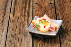Open faced sandwich Stock Photography