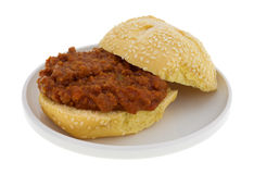 Open faced sloppy joe sandwich Royalty Free Stock Photos