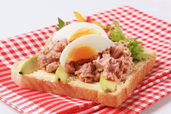 Open-faced tuna sandwich Stock Photos