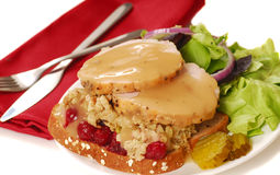 Open Faced Turkey Sandwich Stock Images