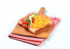 Open faced vegetable sandwich Stock Photo