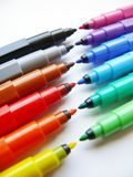Open felt-tip pens (markers). Colorful open felt-tip pens. colorful markers Stock Photos