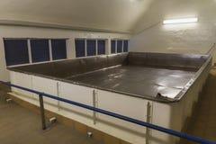 Open fermenter at Brewery. Stock Photos