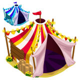 Open a festive circus tent. Vector isolated. Open a festive circus tent. Vector illustration isolated Royalty Free Stock Photos