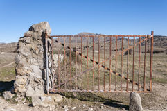 Open field gate Royalty Free Stock Photo