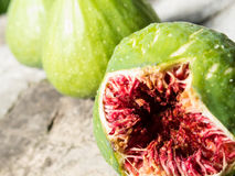 Open fig close-up Royalty Free Stock Images