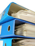Open file folder. Archive catalogue closeup selected Royalty Free Stock Photography