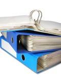 Open file folder. Archive catalogue closeup selected Stock Photos