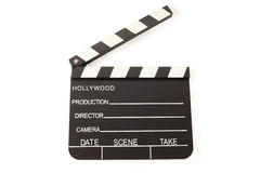 Open Film Slate (Clapper board) Stock Photo