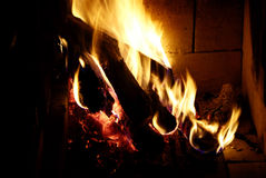 Open fire Royalty Free Stock Image