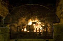 Open fire in a bar Stock Photos