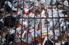 Open Fire Charcoal Barbecue Royalty Free Stock Photos