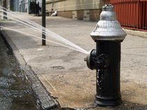Open Fire Hydrant Royalty Free Stock Photos