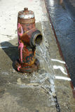 Open Fire Hydrant Royalty Free Stock Images