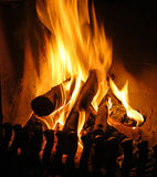 Open fire place Royalty Free Stock Images