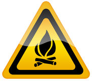 Open fire sign Stock Photography