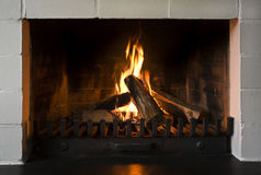 Open fireplace Stock Image