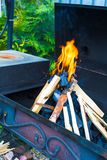 Open fireplace for barbecue Stock Images