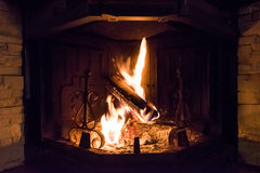 Open fireplace Stock Photography