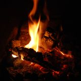 Open Fireplace (square) Stock Photos