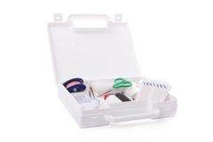Open first aid kit Stock Photography