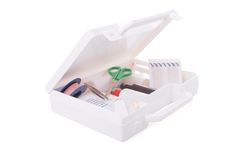 Open first aid kit Royalty Free Stock Image