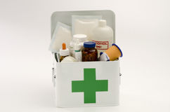 Open first aid kit Stock Image