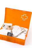 Open first aid kit isolated Royalty Free Stock Photo