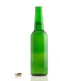 Open fles bier royalty-vrije stock foto