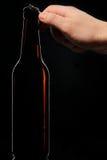 Open flessenbier royalty-vrije stock afbeeldingen