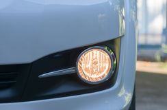 Open fog lamp car Stock Photos