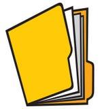 Open folder. Manila folder, folders with paper Royalty Free Stock Photo