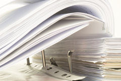 Open folder with documents filed Stock Image