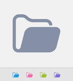 Open Folder - Granite Icons Royalty Free Stock Photo
