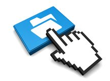 Open Folder Icon. 3D Illustration Open Folder Icon Stock Photos