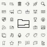 Open folder icon. Detailed set of minimalistic icons. Premium graphic design. One of the collection icons for websites, web design. Mobile app on colored Royalty Free Stock Photography