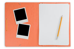 Open folder and instant photos Stock Images