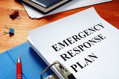 Free Open Folder With Emergency Response Plan Stock Photography - 178177262