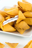 Open fortune cookie - YOU ARE GOING TO MAKE MISTAKES Royalty Free Stock Image