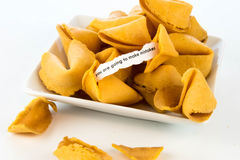 Open fortune cookie - YOU ARE GOING TO MAKE MISTAKES Stock Photo