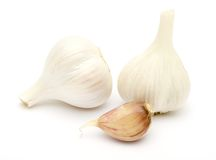 Open fresh garlic Stock Image