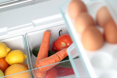 An Open Fridge with Food Stock Photos