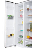 Open fridge full of fresh fruits and vegetables Stock Photography