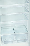 The open fridge. With the shelves, close up Stock Photos